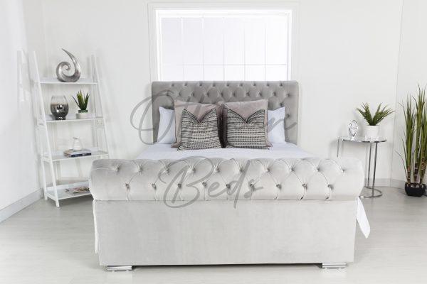 Sleigh Bed No beading