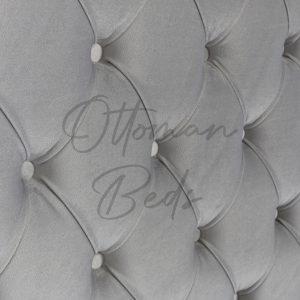 Chesterfield sleigh ottoman bed 7
