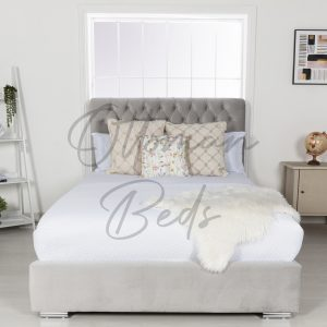 low foot Chesterfield sleigh bed